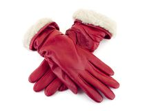 Red gloves Royalty Free Stock Images