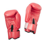 Red gloves for boxing or kick boxing Royalty Free Stock Image