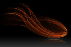 Red glow energy wave. Royalty Free Stock Photo