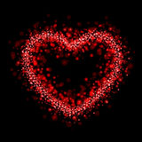 Red glow heart. Valentine's day background Royalty Free Stock Photos