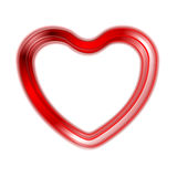 Red glow heart on white background Stock Photos