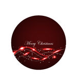 Red Glowing  Christmas Card Stock Images