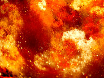 Red glowing fire nebula in space Stock Photography