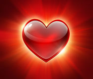 Red glowing heart Stock Photography