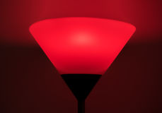 Red glowing lamp. Closeup of a red lamp Stock Image