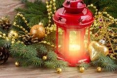Red glowing lantern Royalty Free Stock Image