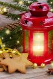 Red glowing lantern Stock Photos