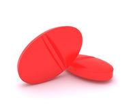 Red glowing pills - radioactive medicine Stock Photography