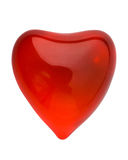 Red glowing valentine heart cu. Red glowing valentine heart isolated on white with clipping path Royalty Free Stock Images