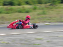 Red Go Kart. A racing red go kart Stock Images