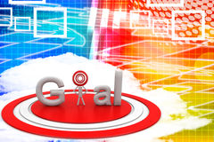 Red Goal Text Illustration Royalty Free Stock Photo