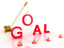 Red goal word, Royalty Free Stock Photography