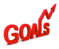 Red Goals Word Shows Objectives Hope And Future Stock Photo