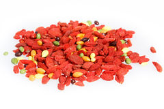 Red goji traditional chinese herbal medicine Royalty Free Stock Photo