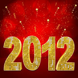 Red and gold 2012 Stock Photography