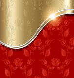 Red and gold abstract background Stock Images