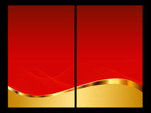 Red and gold abstract background, front and back Stock Images