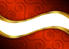 Red and gold abstract background template for website, banner, business card, invitation Stock Photos