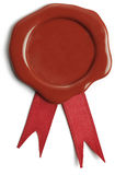 Red and Gold Award Ribbon Royalty Free Stock Photography