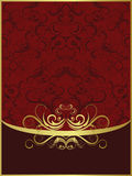 Red gold background Stock Photos
