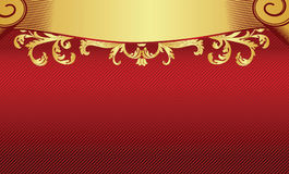 Red with gold background Stock Image