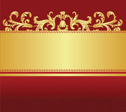 Red with gold background. Vector illustration Stock Images