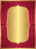Red gold background. With copy space Stock Images