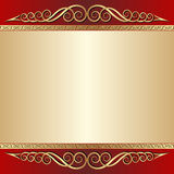 Red and gold  background. With ornaments Stock Photo