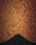Red Gold Background With Black Accents. Template For Design. Copy Space For Ad Brochure Or Announcement Invitation, Abstract Backg Royalty Free Stock Image