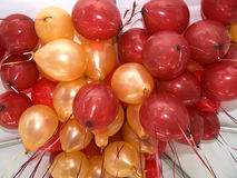 Red and Gold Balloons Stock Photos