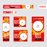 Red and gold banner advertising templates Royalty Free Stock Photo