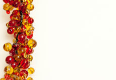 Red and Gold Bead border Stock Image