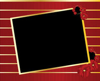 Red gold black tilted rectangle frame background Royalty Free Stock Photography