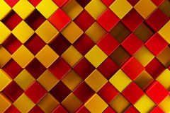 Red and gold blocks. Abstract background Stock Photo
