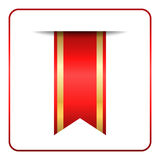 Red gold bookmark banner Royalty Free Stock Images