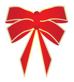 Red and gold bow Stock Photos