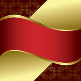 Red and gold bright vector background Stock Image