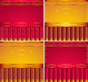 Red,  Gold, Brown  backgrounds Royalty Free Stock Photos