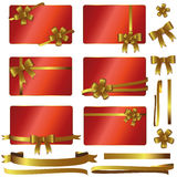 Red gold card - set Royalty Free Stock Image
