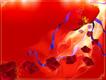 Red and gold Chinese background Stock Photos