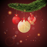 Red and gold Christmas Stock Photography