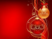 Red_and_gold_christmas Stock Image