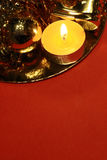 Red&gold Christmas background Royalty Free Stock Image