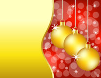 Red and Gold Christmas Background Stock Photos