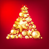Red and gold christmas background. EPS 10. Beautiful red and gold christmas background. EPS 10 vector file included Royalty Free Stock Image
