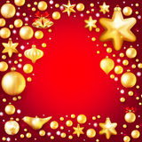 Red and gold christmas background. EPS 10. Beautiful red and gold christmas background. EPS 10 vector file included Royalty Free Stock Photos