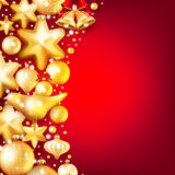 Red and gold christmas background. EPS 10. Beautiful red and gold christmas background. EPS 10 vector file included Stock Images