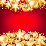 Red and gold christmas background. EPS 10. Beautiful red and gold christmas background. EPS 10 vector file included Stock Photography