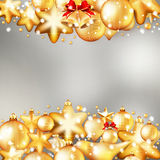 Red and gold christmas background. EPS 10. Beautiful red and gold christmas background. EPS 10 vector file included Royalty Free Stock Photography