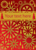 Red and gold christmas background vector. Illustration Stock Photos